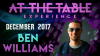 At The Table Live Lecture Ben Williams December 6th 2017