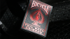 Bicycle Foil Back Crimson (Red) MetalLuxe Playing Cards